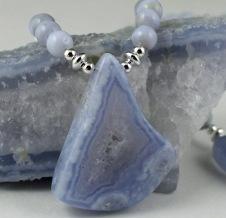 Blue lace agate  (item BASSN101)