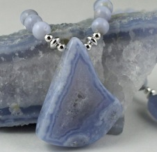 Blue lace agate  (item BASSN101)
